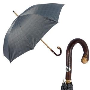 Зонт-трость Pasotti Bark Chestnut Milford Grey фото-1