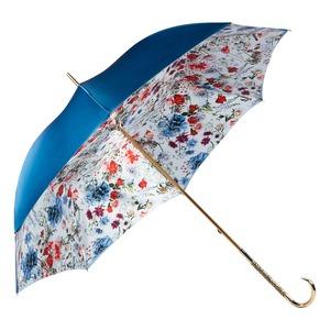 Зонт-Трость Pasotti Becolore Blu Viona Oro Dentell фото-3