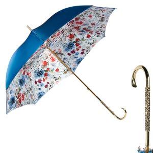 Зонт-Трость Pasotti Becolore Blu Viona Oro Dentell фото-1