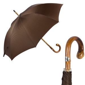 Зонт-трость Pasotti Bark Chestnu Pepita Morrone фото-1