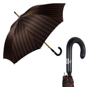 Зонт-трость Pasotti Pelle/Legno Big Stripes фото-1
