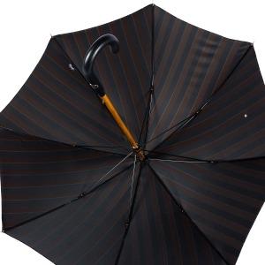 Зонт-трость Pasotti Pelle/Legno Big Stripes фото-4