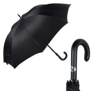 Зонт-трость Pasotti Esperto Classic Pelle Chevron Black фото-1
