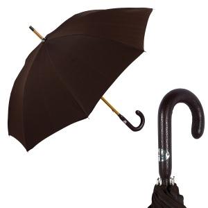 Зонт-трость Pasotti Classic Pelle Milford Morrone фото-1