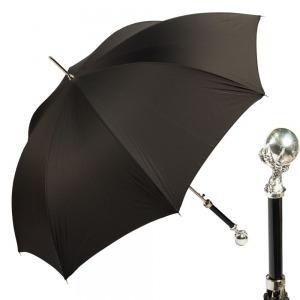 Зонт Трость Pasotti Artiglio Silver StripesS Black фото-1