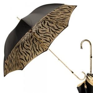 Зонт-трость Pasotti Nero Leo Pure Oro фото-1
