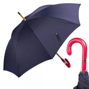 Зонт-трость Pasotti Pelle/Legno Punto Blu фото-1