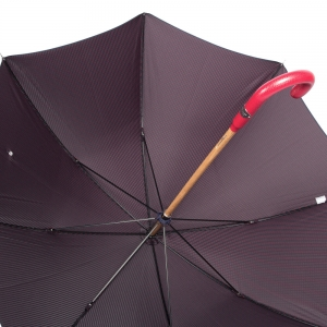 Зонт-трость Pasotti Pelle/Legno Punto Blu фото-4