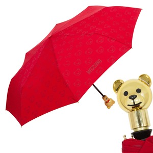 Зонт складной Moschino 8043-OCC Monobear Gold Red фото-1