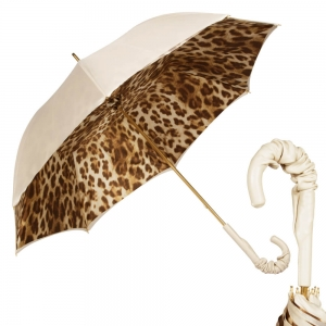 Зонт-Трость Pasotti Ivory Leo Pelle фото-1