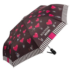 Зонт складной Moschino 7029-OCA Olivia Balloons Black фото-2