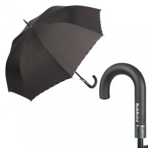 Зонт-трость Baldinini 56-AU logo line black фото-1
