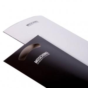 Зонт складной Moschino 8025-OCB Peace Signs White/Black фото-6