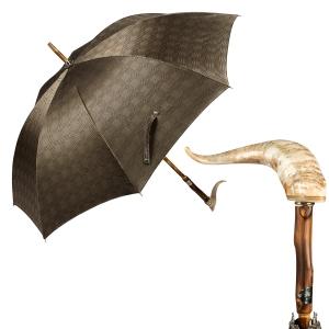Зонт-трость Pasotti Mutton Horn Milford Beige фото-1