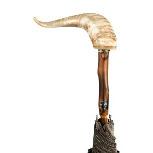 Зонт-трость Pasotti Mutton Horn Milford Beige фото-2