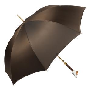 Зонт-трость Pasotti Jack Russell Oxford Marrone фото-4