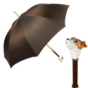 Зонт-трость Pasotti Jack Russell Oxford Marrone фото-1