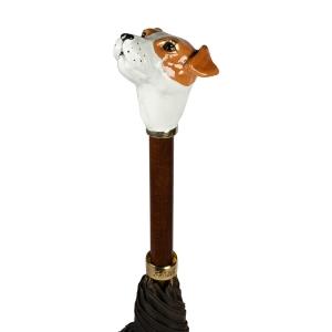 Зонт-трость Pasotti Jack Russell Oxford Marrone фото-2