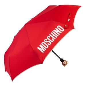 Зонт складной Moschino 8080-OCC Gift Bear Red фото-2