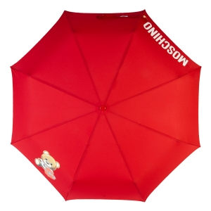Зонт складной Moschino 8080-OCC Gift Bear Red фото-3