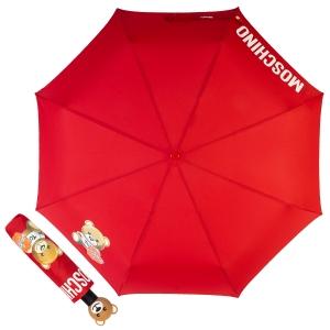 Зонт складной Moschino 8080-OCC Gift Bear Red фото-1
