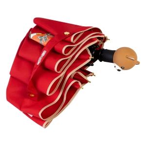 Зонт складной Moschino 8080-OCC Gift Bear Red фото-4