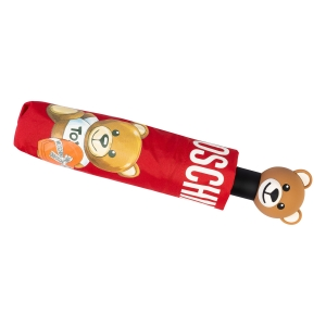 Зонт складной Moschino 8080-OCC Gift Bear Red фото-5