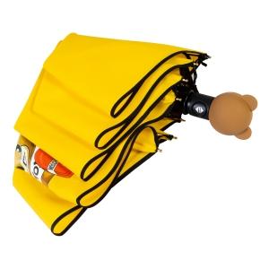 Зонт складной Moschino 8080-OCU Gift Bear Yellow фото-4