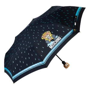 Зонт складной Moschino 8058-OCA Bear in the rain Black фото-2