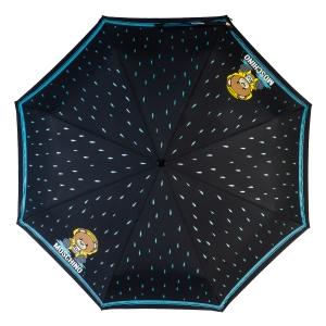 Зонт складной Moschino 8058-OCA Bear in the rain Black фото-3