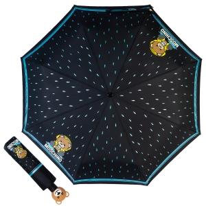 Зонт складной Moschino 8058-OCA Bear in the rain Black фото-1