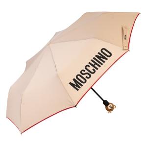 Зонт складной Moschino 8080-OCD Gift Bear Dark Bei фото-2