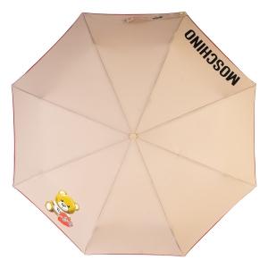 Зонт складной Moschino 8080-OCD Gift Bear Dark Bei фото-3