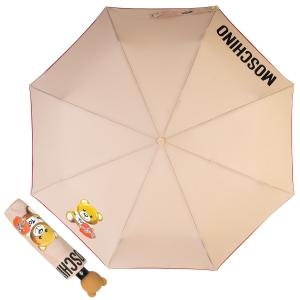 Зонт складной Moschino 8080-OCD Gift Bear Dark Bei фото-1