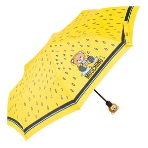 Зонт складной Moschino 8058-OCU Bear in the rain Yellow фото-2