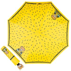 Зонт складной Moschino 8058-OCU Bear in the rain Yellow фото-1