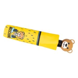Зонт складной Moschino 8058-OCU Bear in the rain Yellow фото-5