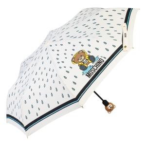 Зонт складной Moschino 8058-OCI Bear in the rain Cream фото-1
