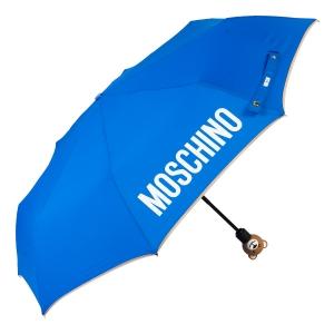 Зонт складной Moschino 8080-OCF Gift Bear Blue фото-2