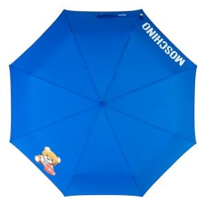 Зонт складной Moschino 8080-OCF Gift Bear Blue фото-3