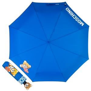 Зонт складной Moschino 8080-OCF Gift Bear Blue фото-1