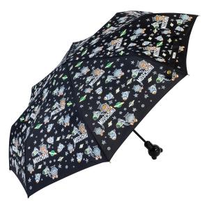 Зонт складной Moschino 8045-OCA Space Bear Black фото-2