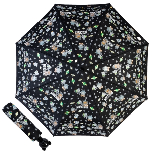 Зонт складной Moschino 8045-OCA Space Bear Black фото-1