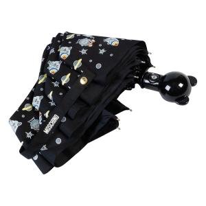 Зонт складной Moschino 8045-OCA Space Bear Black фото-4