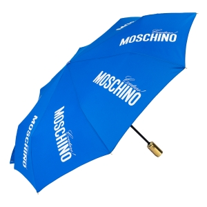 Зонт складной Moschino 8730-OCF Couture Gold Blue фото-2