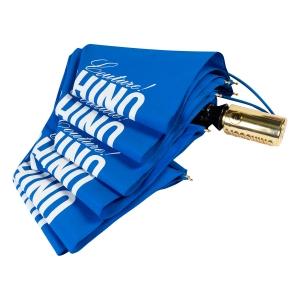 Зонт складной Moschino 8730-OCF Couture Gold Blue фото-4