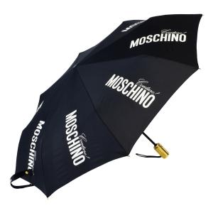 Зонт складной Moschino 8730-OCA Couture Gold Black фото-2