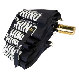 Зонт складной Moschino 8730-OCA Couture Gold Black фото-4