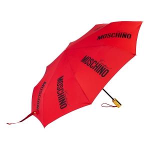 Зонт складной Moschino 8730-OCС Couture Gold Red фото-2