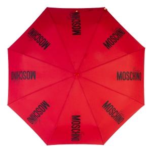 Зонт складной Moschino 8730-OCС Couture Gold Red фото-3